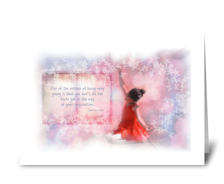 Virtue of childhood greeting card