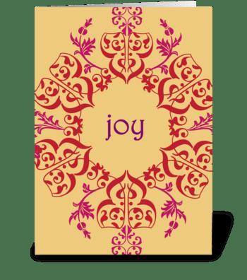 Swirls of Joy greeting card