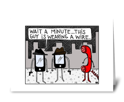 Wearing a Wire greeting card