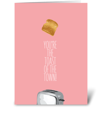 Toast greeting card