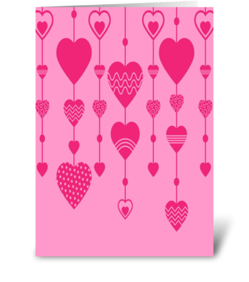 heart curtain greeting card