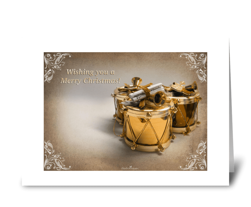 Golden drums greeting card