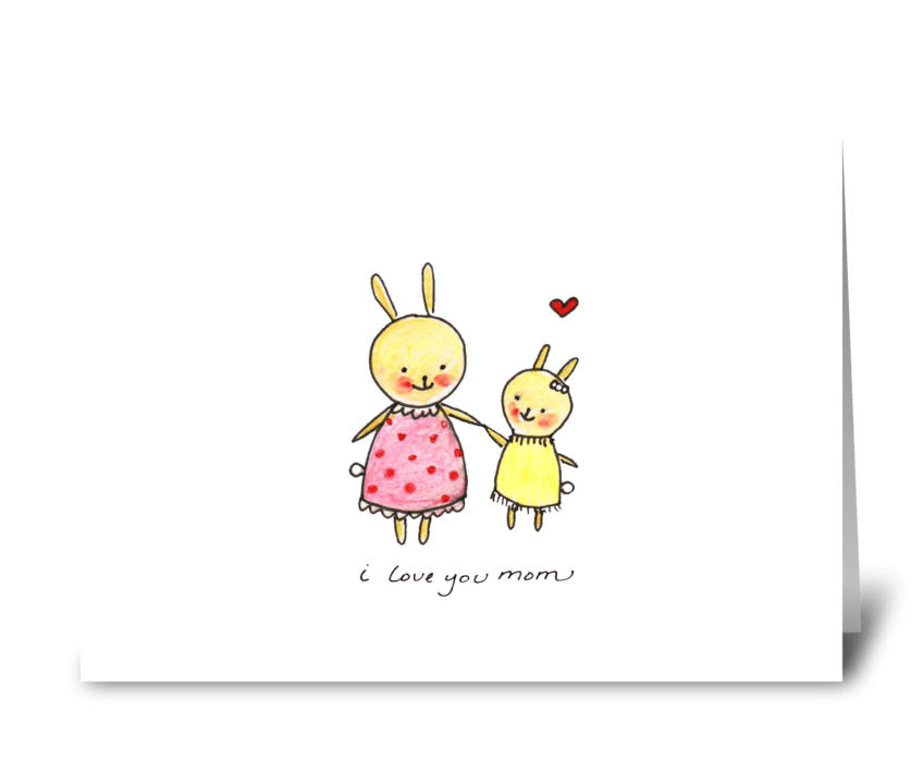 Bunny Mom greeting card