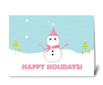 Cute Snowman greeting card