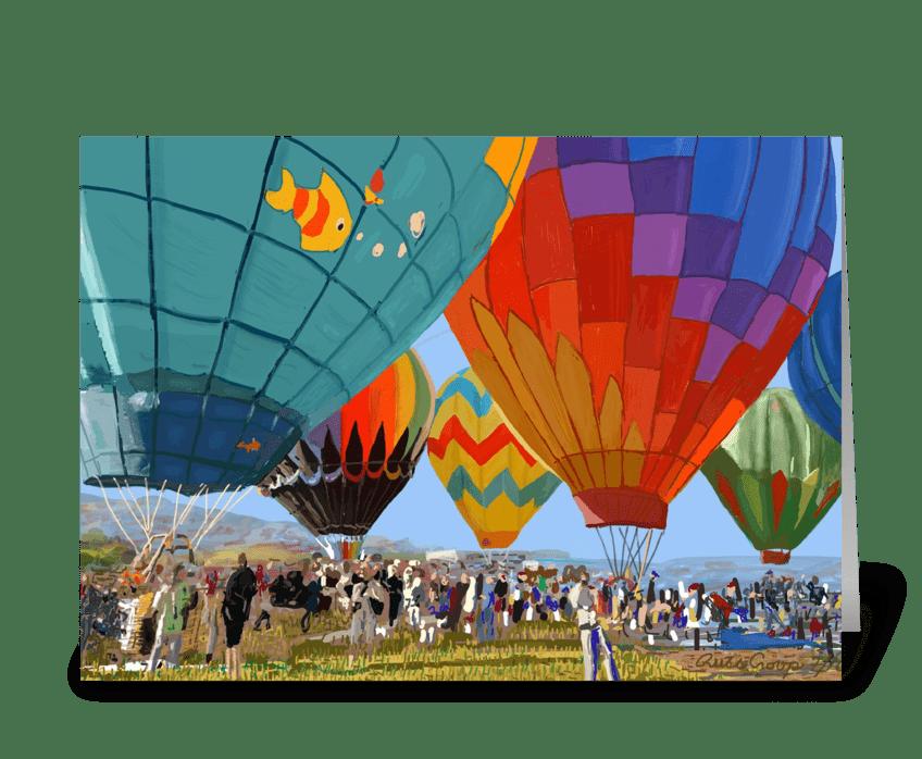 Balloons greeting card