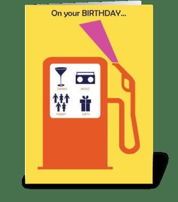 Pumped Up Birthday greeting card