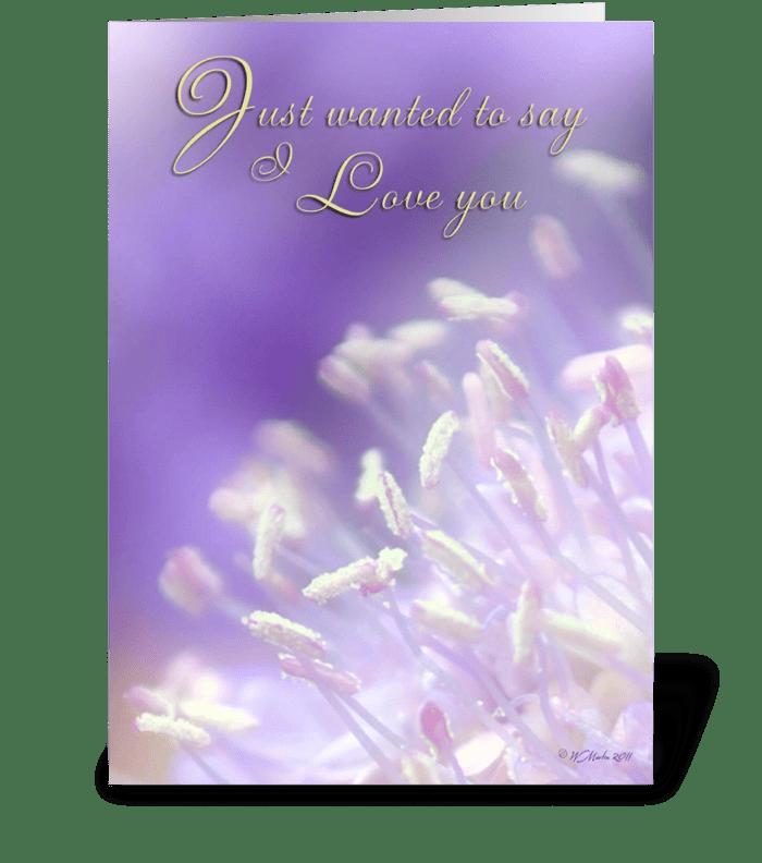 Romantic Greeting Card greeting card
