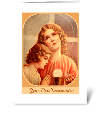 Your first communion greeting card