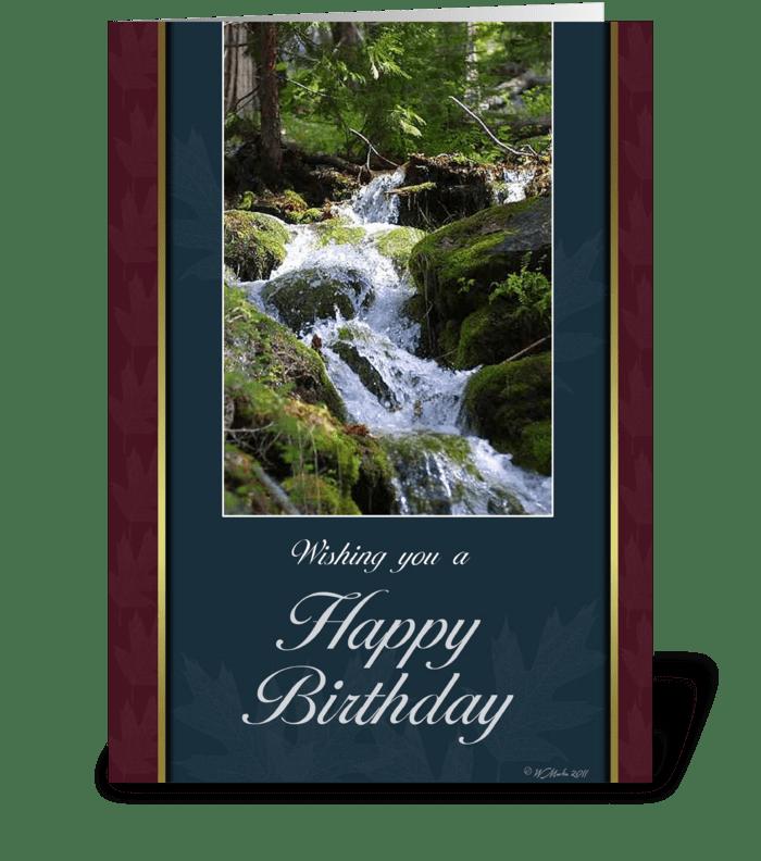 Forest Stream Birthday Card greeting card