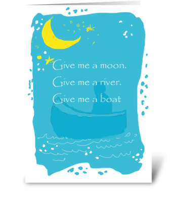 Give me a moon greeting card