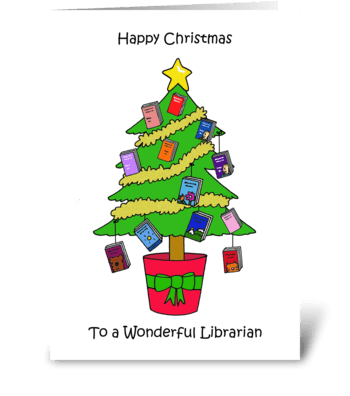Happy Christmas Librarian. greeting card