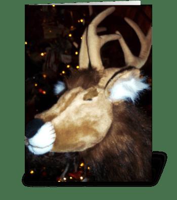 Reindeer Imposter greeting card