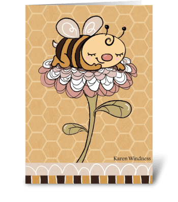 Bumble of Joy greeting card