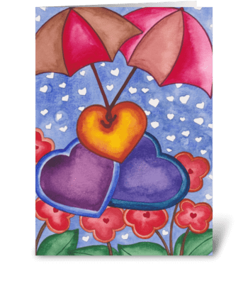 love umbrellas greeting card