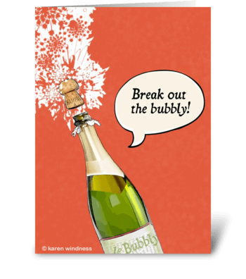 Bubbly Congratulations greeting card