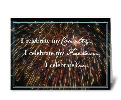 3312 July 4 Celebrate Country, Freedom greeting card