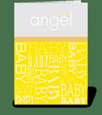 Baby Angel greeting card