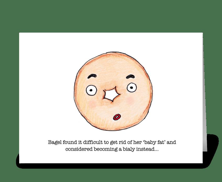 Chubby Bagel greeting card