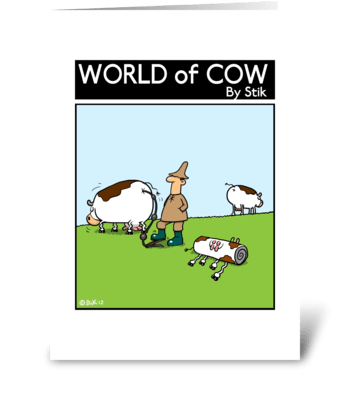 Inflatable Cows greeting card