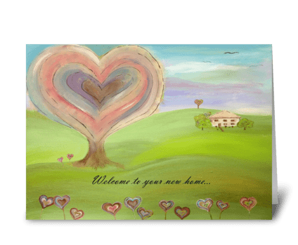 Home is where the heart is greeting card