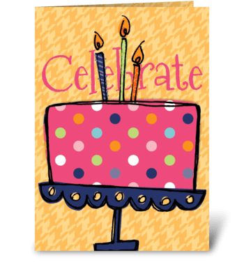 Celebrate Cake greeting card