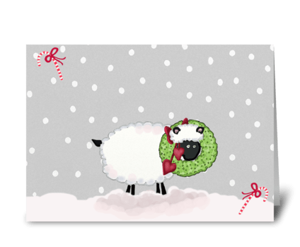 Sheepish Christmas Wishes greeting card