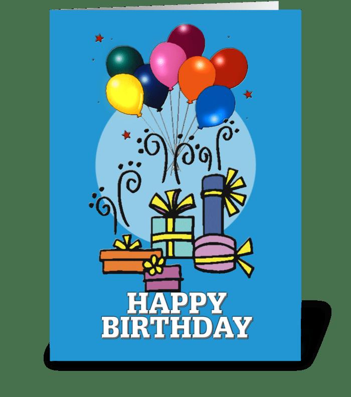 Balloons, Happy Birthday CARD greeting card