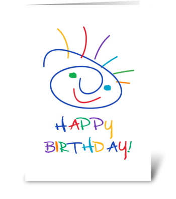 Face with a smile greeting card