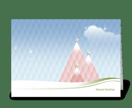 Diamond Divine Christmas greeting card
