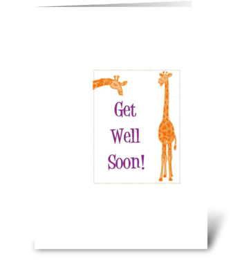 Get Well Soon!  (for children) greeting card