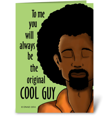 Dad, The Original Cool Guy greeting card