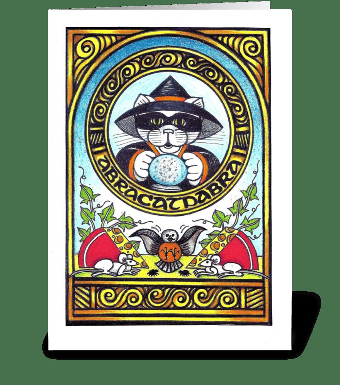 Abracatdabra greeting card