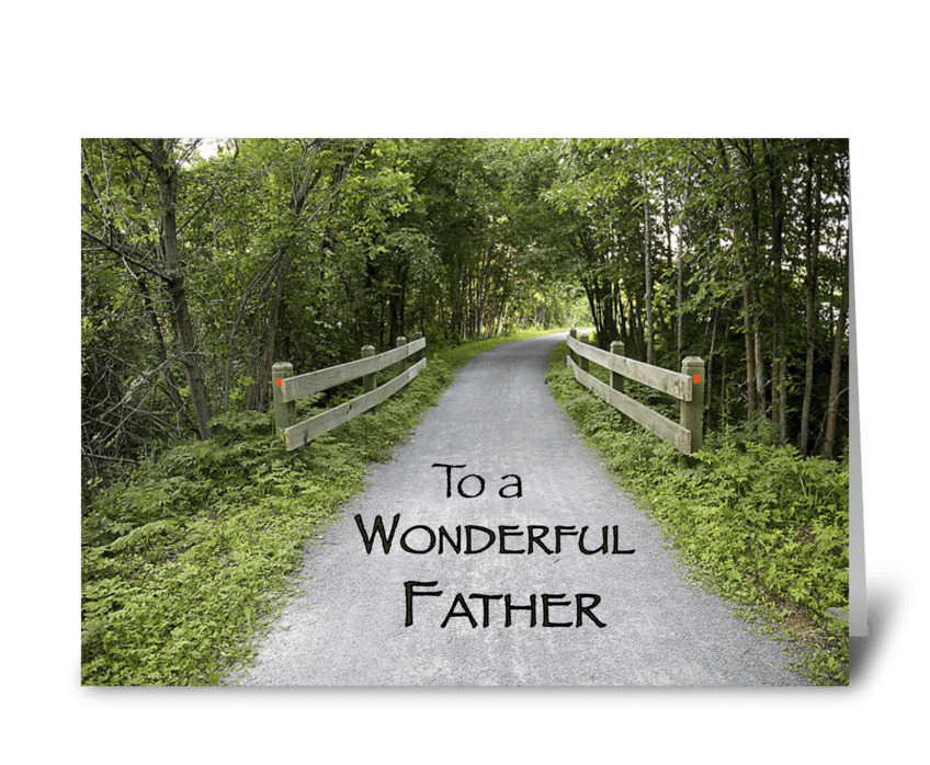 Father's Day Path in Woods greeting card