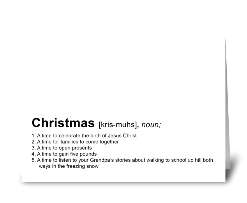 Define your Christmas! greeting card
