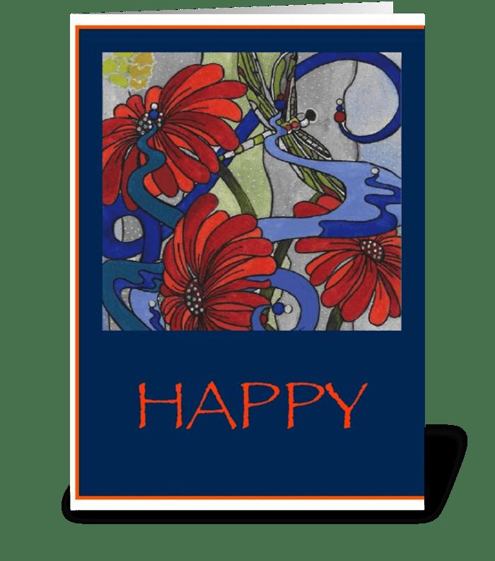 Happy Happy Happy greeting card