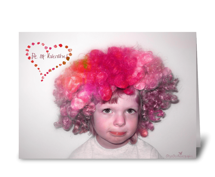 Clown Valentine greeting card