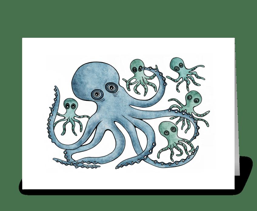 Mr. Octopus greeting card