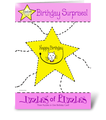 Kitty Cat Birthday Card greeting card