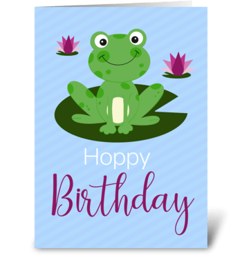 Hoppy birthday greeting card