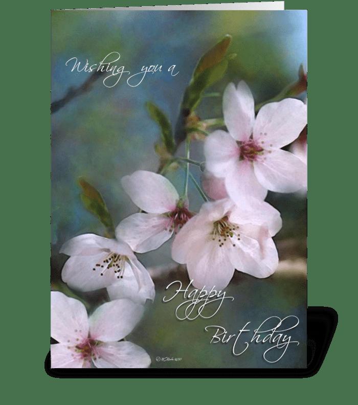 Spring Buds Birthday Card greeting card