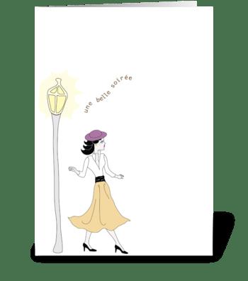 Oo-La-La - Une Belle Soirée greeting card