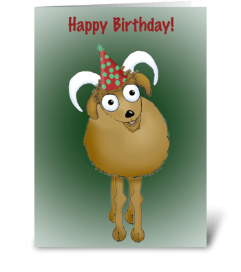Happy Birthday Old Goat. greeting card
