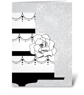 Wedding Grays Cake greeting card