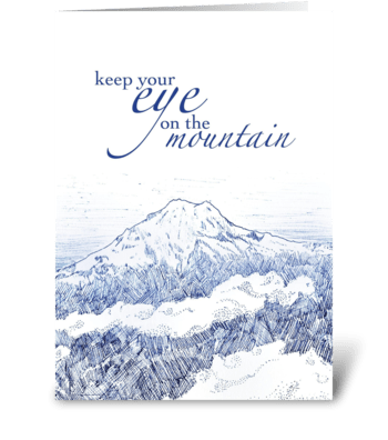 Eye on the Mountain greeting card