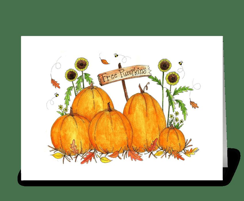 Festive Fall Pumpkin Patch greeting card