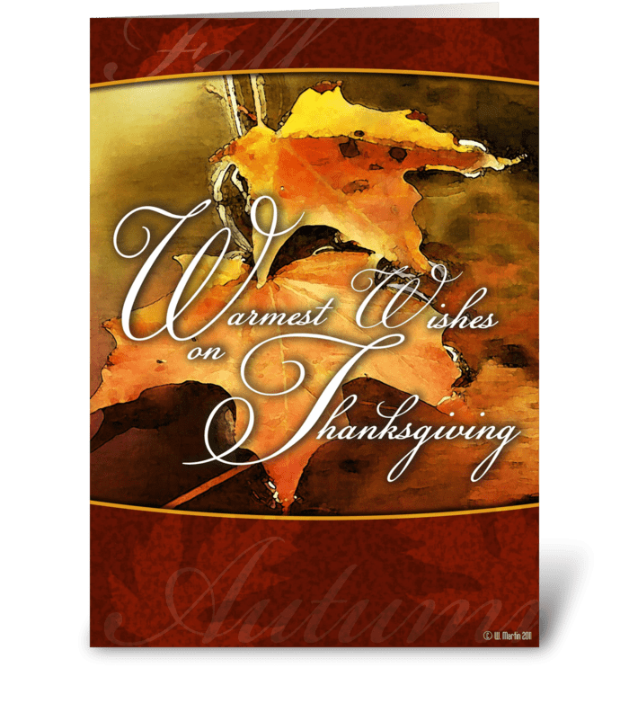 Warm Thanksgiving Wishes Card greeting card