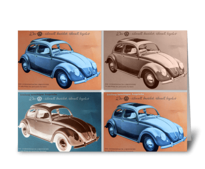 VW Bug Tribute greeting card