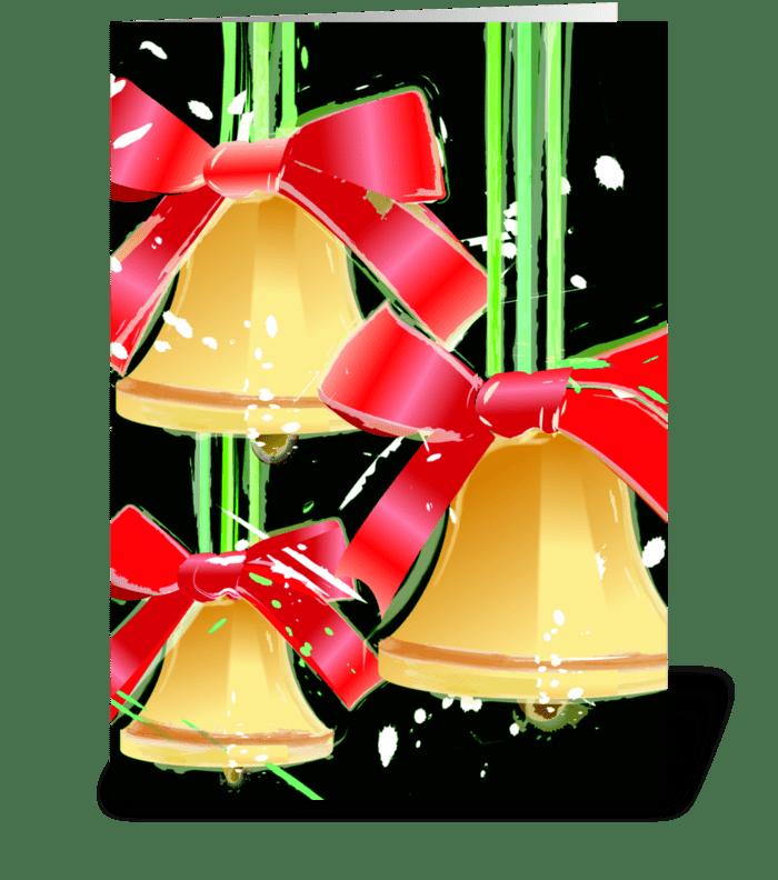 Christmas Joy and Happiness greeting card