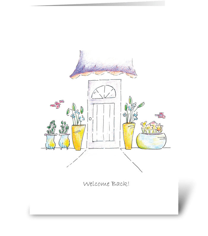 Welcome back send this greeting card designed by robin ball welcome back greeting card m4hsunfo
