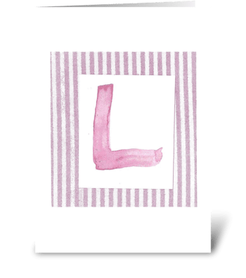 L - Baby Girl greeting card
